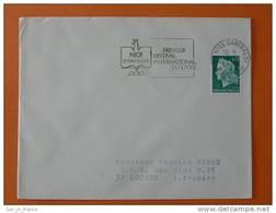Flamme Postmark Festival Du Livre Book Festival 1969 Nice Alpes Maritimes - Marcophilie (Lettres)
