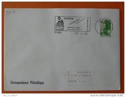 Flamme Postmark Fusee Rocket Vernon Eure - Europa
