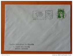 Flamme Postmark La Foret Est Fragile Attention Au Feu Nice Garibaldi Alpes Maritimes - Marcophilie (Lettres)
