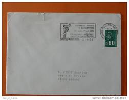 Flamme Postmark Marionnettes Puppets 1976 Charleville Mezieres Ardennes - Marcophilie (Lettres)