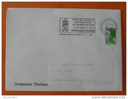 Flamme Postmark Marionnettes Puppets 1985 Charleville Mezieres Ardennes - Marcophilie (Lettres)