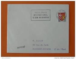 Flamme Postmark Moto Cross 1966 Arras Pas De Calais - Motorbikes