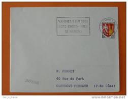 Flamme Postmark Moto Cross 1966 Vannes Morbihan - Motorbikes