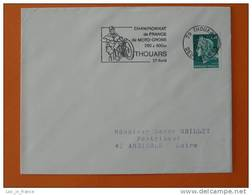 Flamme Postmark Moto Cross 1969 Thouars Deux Sevres - Motorbikes