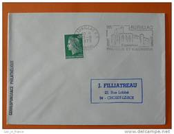 Flamme Postmark Philatelie Et Volcanisme Aurillac Cantal - Volcans