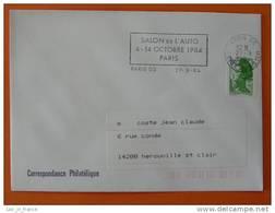 Flamme Postmark Salon De L'auto 1984 Paris 05 - Marcophilie (Lettres)