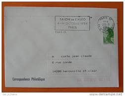 Flamme Postmark Salon De L'auto 1984 Paris 13 - Marcophilie (Lettres)