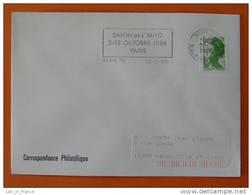 Flamme Postmark Salon De L'auto 1986 Paris 20 - Marcophilie (Lettres)