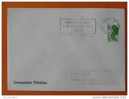Flamme Postmark Salon De L'auto 1986 Paris 21 - Marcophilie (Lettres)