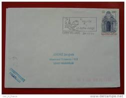 Flamme Essonne 91 Evry Village - Marcophilie (Lettres)