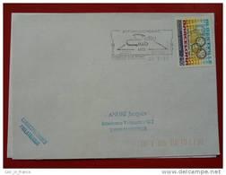 Flamme Essonne 91 Vigneux Sur Seine Delta Club 1992 - Marcophilie (Lettres)