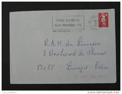 Flamme 19 Corrèze Brive Gare Foire Du Livre 1993 - Marcofilie (Brieven)