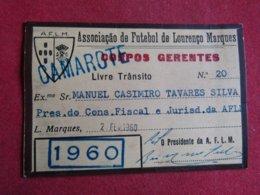 Mozanbique - Moçambique - Association De Football De Lourenço Marques - Associação De Futebol De Lourenço Marques 1960 - Tickets D'entrée