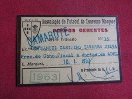 Mozanbique - Moçambique - Association De Football De Lourenço Marques - Associação De Futebol De Lourenço Marques 1963 - Tickets D'entrée