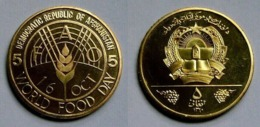 Afghanistan 5 Afghanis 1981 World Food Day FAO KM#1001 UNC PROOF RARE COIN - Afghanistan