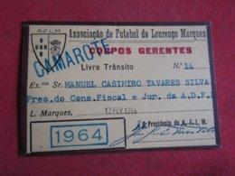 Mozanbique - Moçambique - Association De Football De Lourenço Marques - Associação De Futebol De Lourenço Marques 1964 - Tickets D'entrée