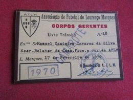 Mozanbique - Moçambique - Association De Football De Lourenço Marques - Associação De Futebol De Lourenço Marques 1970 - Tickets D'entrée