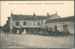 CPA CERNAY LA VILLE RESTAURANT AVRIL HOTEL DE LA POSTE VALLEE DE CHEVREUSE  78 YVELINES - Cernay-la-Ville