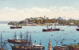 TURQUIE. CONSTANTINOPLE. CPA VERNIE COLORISÉE. LA POINTE DU SERAIL - Turquie