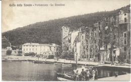 GOLFO DELLA SPEZIA - PORTOVENERE - LE BANCHINE - POSTALLY USED 1914 - LIGURIA - ITALY - La Spezia