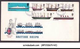 GREAT BRITAIN - 1969 BRITISH SHIPS - 6V - FDC - FDC