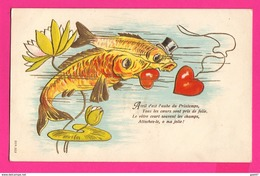 CPA (Ref: Z 1398) ) 1er AVRIL POISSON D'AVRIL  Gaufrée - 1° Aprile (pesce Di Aprile)