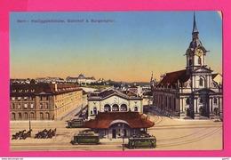 CPA (Ref: Z 1250) BERNE : Place De La Gare (SUISSE) (Tramway, Attelage Chevaux) - BE Berne