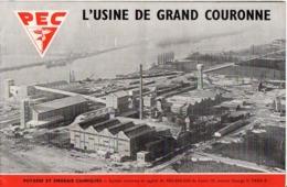 1953 GRAND COURONNE - USINE PEC (Potasse Engrais Chimiques) Livret De 9 Photos Inédites - Francia
