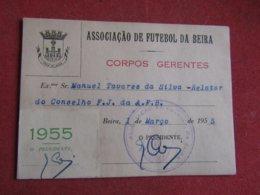 Mozanbique - Moçambique - Association De Football Da Beira - Associação De Futebol Da Beira 1955 - Tickets D'entrée