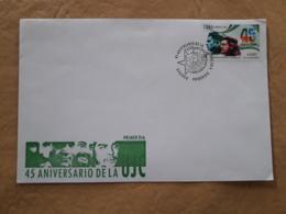 Cuba FDC 45 Ans De L'union Des Jeunes Communistes - FDC