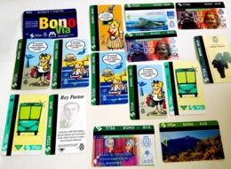 Beaucoup De Bons De Bus Illustrés Avec Différents Thèmes Et De Différentes Collections - Tenerife, Iles Canaries - Wochen- U. Monatsausweise