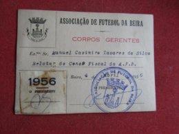 Mozanbique - Moçambique - Association De Football Da Beira - Associação De Futebol Da Beira 1956 - Tickets D'entrée