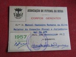 Mozanbique - Moçambique - Association De Football Da Beira - Associação De Futebol Da Beira 1957 - Tickets D'entrée