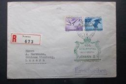 Liechtenstein: 1940 Rgt. Cover To Luzern (#JT4) - Liechtenstein