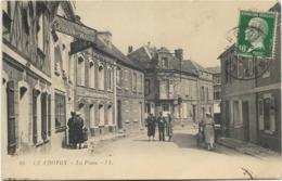 80 - LE CROTOY - La Poste. Animée, CPA Ayant Circulé En 1924. - Le Crotoy