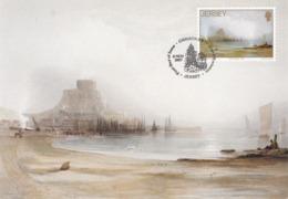 Carte Maximum Peinture Jersey 1987John Le Capelain - Jersey