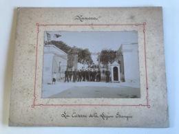 Photo Sur Plaque Cartonnée 27 X 21cm - MASCARA (Algerie)  La Caserne De La Legion Etrangere - War, Military