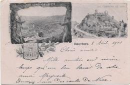 88 - BRUYERES - Carte Multivues Ayant Circulé En 1900. - Bruyeres