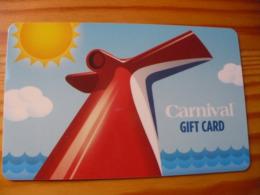 Carnival Gift Card USA - Cartes Cadeaux