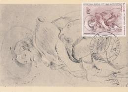 Carte Maximum Peinture Bénin 1977 Rubens - Benin – Dahomey (1960-...)