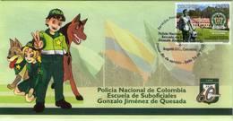 Lote 2631F, Colombia, 2010, SPD-FDC, Escuela De Suboficiales, Police, Dog, Horse, Children - Colombia