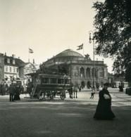 Danemark Copenhague Kongens Nytorv Omnibus Ancienne Photo Stereo NPG 1900 - Stereoscopic