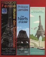*321*  THEME : TOUR EIFFEL - SERIE 3 MARQUE PAGE - Marque-Pages