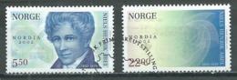 Norvège YT N°1391/1392 Niels Henrik Abel Surchargé Nordia 2002 Oblitéré ° - Norvège