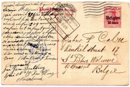 Carte N° 13 - Volet Réponse Expédié De S'GRAVENHAGE (NL) Vers Sint-Lambrechts Woluwe - Censure De Emmerich - German Occupation