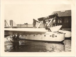 Aviation - Hydravion Lausanne-Ouchy - 1928 - Rarissime - Lot De 3 Photos - Riproduzioni
