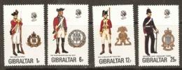 Gibraltar  1976  SG  363-6  Military Unforms   Unmounted Mint - Gibraltar