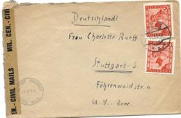 221 - 22 - Enveloppe Envoyée De Salzburg à Stuttgart 1948 - Censure - 1945-.... 2a Repubblica