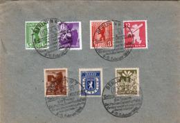 BERLIN (SZ) 1946 - 7 Fach Satz-Frankierung (Ank1-7) Auf Brief Mit Sonderstempel - Zone Soviétique