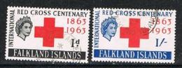 FALKLAND ISLANDS 190809 - 1963 Red Cross VF Used Set - Falklandeilanden